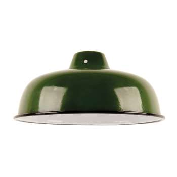 Ian Snow - Enamelled Lampshade - Green (H10 x W25.5 x D25.5cm)