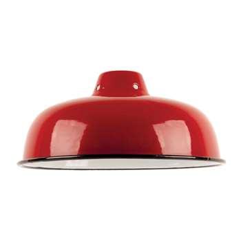 Ian Snow - Enamelled Lampshade - Red (H10 x W25.5 x D25.5cm)