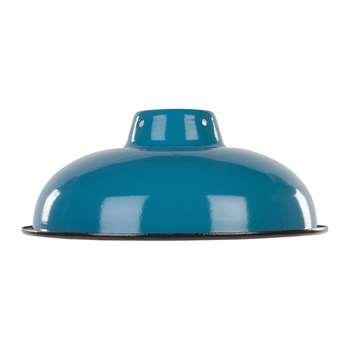 Ian Snow - Enamelled Lampshade - Teal (H10 x W25.5 x D25.5cm)