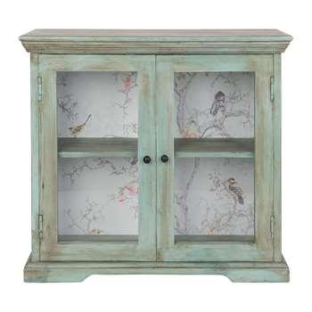 Ian Snow - Glazed Wall Cabinet - Green (H55.5 x W60 x D18.5cm)