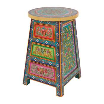 Ian Snow - Hand Painted Urban Gypsy Chest of Drawers (H59 x W39 x D39cm)