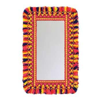 Ian Snow - Neon Tasselled Mirror (H93 x W57cm)