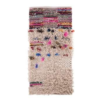 Ian Snow - Shaggy Rag Rug with Sequins and Tufts - 70x140cm (H140 x W70cm)