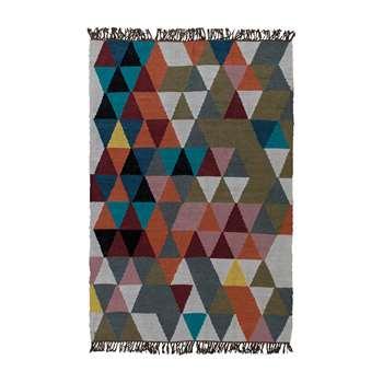Ian Snow - Triangles Woven Wool Rug (H180 x W120cm)