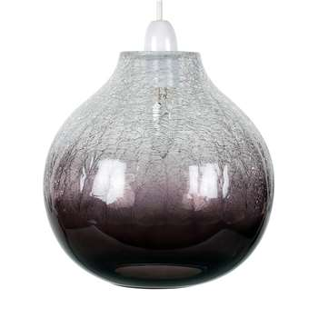 Ibbie Pendant Light Shade Smoked Glass (H23 x W24 x D24cm)