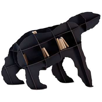 Ibride Bear Bookcase Joe - Black