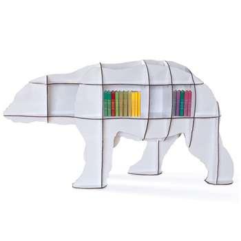 Ibride Bear Bookcase Junior - White