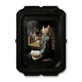 ibride - Galerie De Portraits - Antique Style Rectangular Tray - Lazy Victoire (H45 x W32 x D32cm)