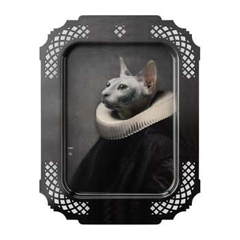 ibride - Galerie De Portraits - Rectangular The Cat Tray (H66 x W49cm)