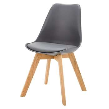 Ice Anthracite Grey Scandinavian-Style Chair (84 x 48cm)