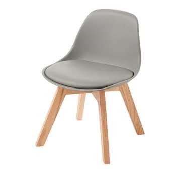 ICE Children's Grey and Oak Scandinavian Chair (H55 x W39 x D42cm)