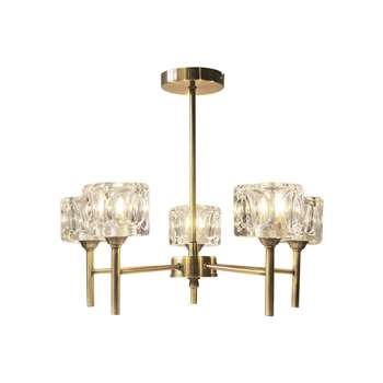 Ice Cube 5 Light Antique Brass Ceiling Light (H37 x W43 x D43cm)