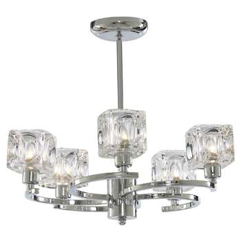 Ice Cube Twist 5 Light Polished Chrome Ceiling Light (H36 x W42 x D42cm)