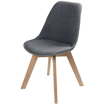 ICE Scandinavian-Style Mottled Grey Fabric Chair (85 x 48cm)