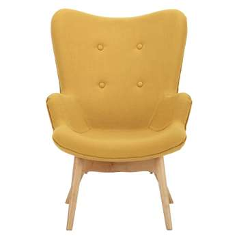 ICEBERG Scandinavian Yellow Children's Armchair (H74 x W54 x D67cm)