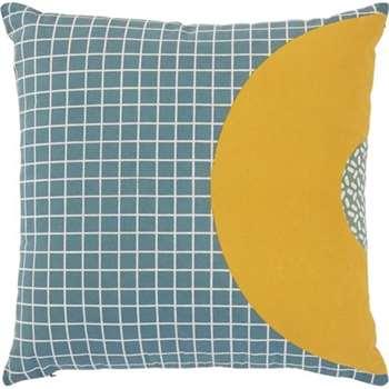 Ida Printed Circle Cushion, Blue Multi (45 x 45cm)