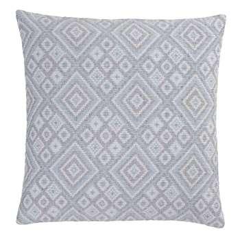 Idanha Cushion Cover, Blue, Off-White & Black Ikat Design (50 x 50cm)