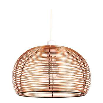 Ideal Home Manhattan Copper Domed Pendant Shade (18 x 30cm)
