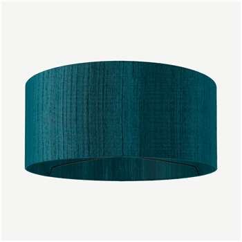 Idris Silk Lamp Shade, Teal (H20 x W45 x D45cm)