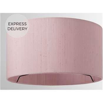 Idris Silk Lamp Shade, Pink (H16 x W30 x D30cm)