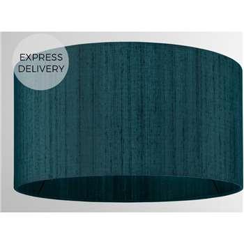 Idris Silk Lamp Shade, Teal (H16 x W30 x D30cm)