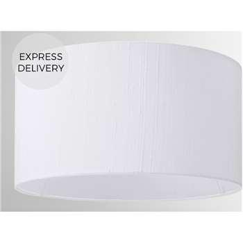 Idris Silk Lamp Shade, White (H16 x W30 x D30cm)