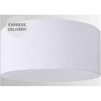 Idris Silk Lamp Shade, White (H20 x W45 x D45cm)