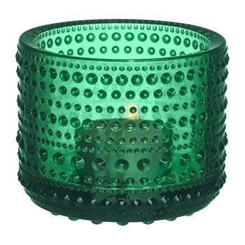 Iittala - Kastehelmi Votive - Emerald (Height 6.4cm)