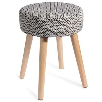 IKAT Fabric Stool with Ethnic Motifs (45 x 35cm)