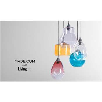 Ilaria Cluster Light, Multi Coloured (91 x 32cm)