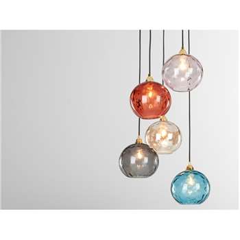Ilaria Cluster Light, Multi Coloured Glass and Brass (H89 x W32 x D32cm)