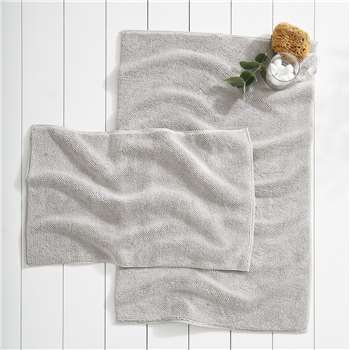 Ile De Re Bath Mat - Pearl Grey, Large (H70 x W110cm)