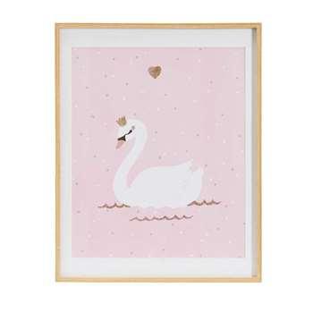 ILLY Pink Swan Printed Artwork (39 x 49cm)