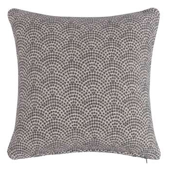 IMAN Grey Cushion with Japanese Motifs (45 x 45cm)