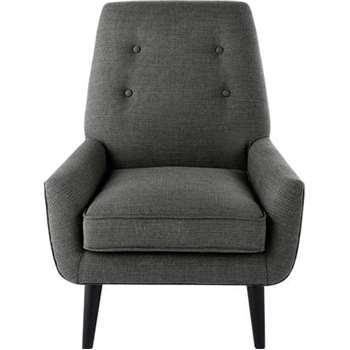 Imogen Accent Chair, Grey Tonal Weave (79 x 79cm)