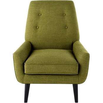 Imogen Accent Chair, Olive Tonal Weave (79 x 79cm)