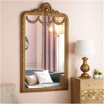 IMPERATRICE Mirror with gold mouldings (161 x 89.5cm)