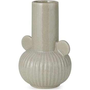 Indi Large Ceramic Vase, Light Grey (H22 x W15 x D15cm)