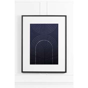 Indigo Arches No.2 - Black Frame (H90 x W70cm)