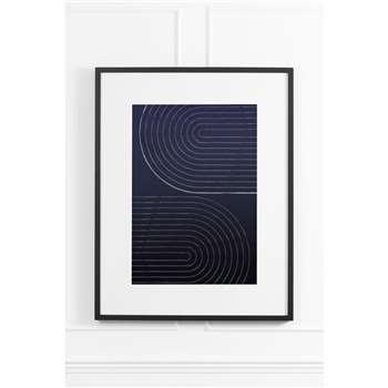 Indigo Arches No.3 - Black Frame (H90 x W70cm)
