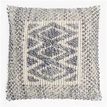 Indigo Aztec Cushion - Blue (50 x 50cm)