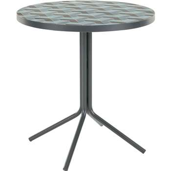 Indra Bistro Table, Tonal Blue (75 x 70cm)