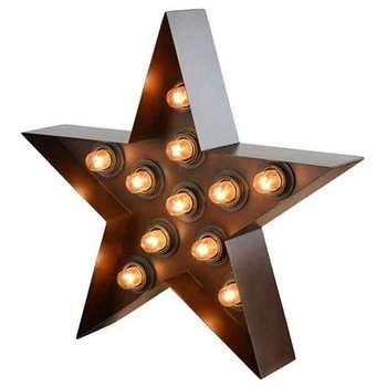 Industrial Illuminated Star (50 x 53cm)