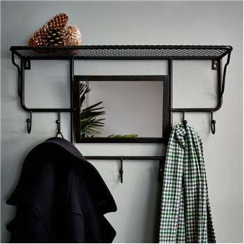 Industrial Rack With Mirror (H38 x W60 x D18cm)