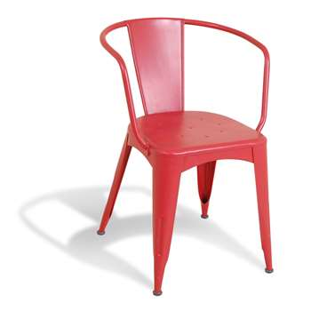 Industrial Red Navy Chair in Re-engineered Design