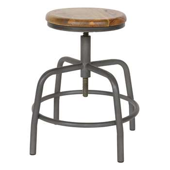 Woood - Industrial Spider Leg Bar Stool (H48-60 x W35 x D35cm)
