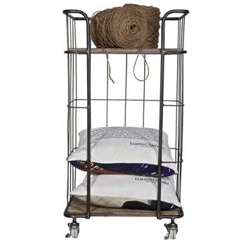Industrial Trolley Storage with 2 Shelves 89 x 48cm