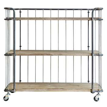 BePureHome Giro Industrial Trolley Storage with three Shelves (H89 x W94 x D41cm)