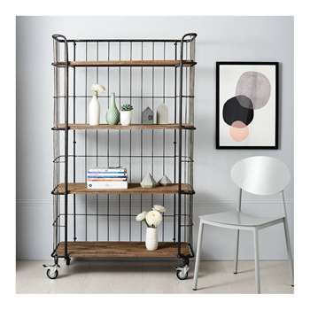 Industrial Trolley Storage with 4 Shelves 158 x 98cm