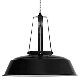 Industrial Workshop Pendant Light in Black - (Diameter 45cm)